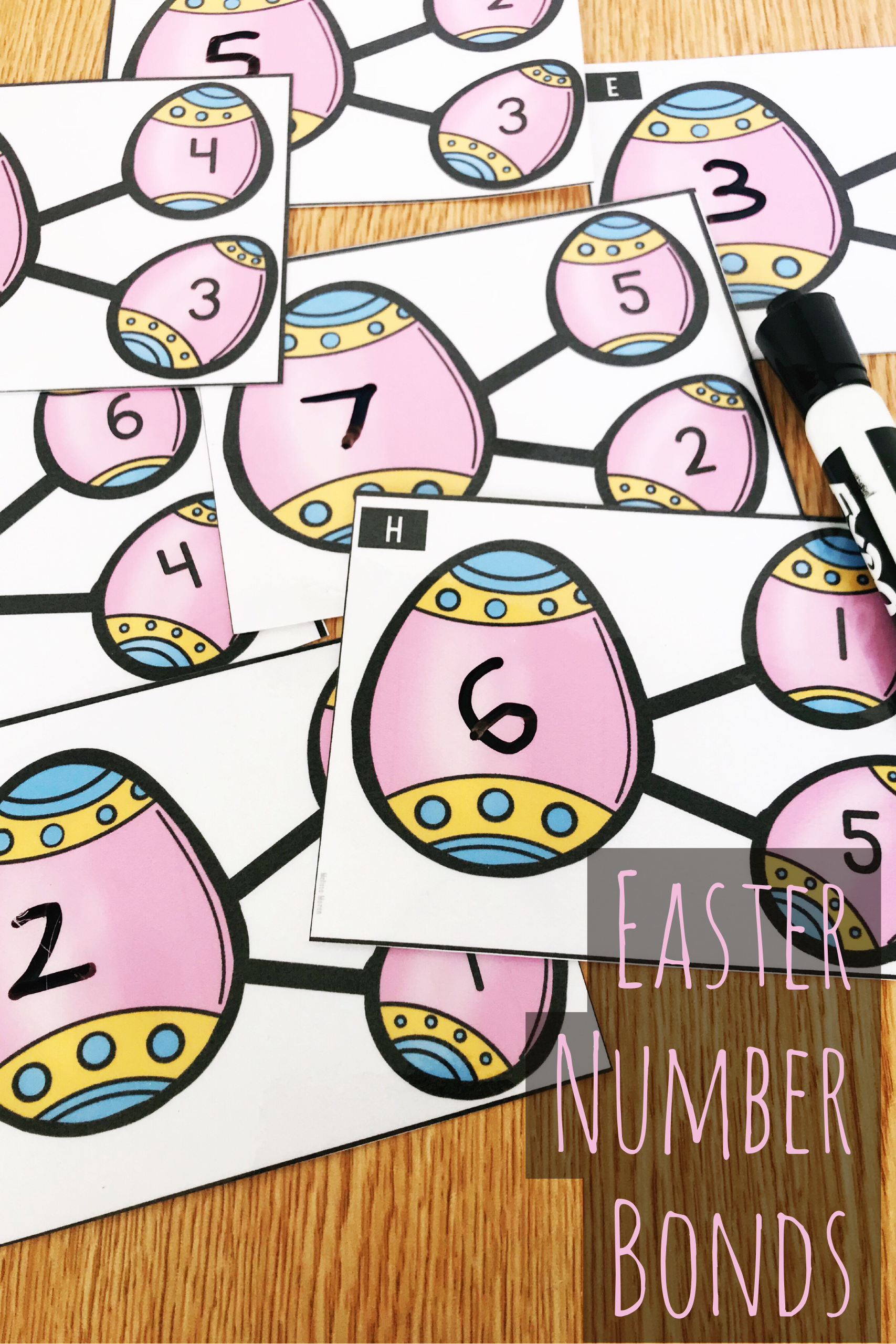 Kindergarten Easter Number Bonds