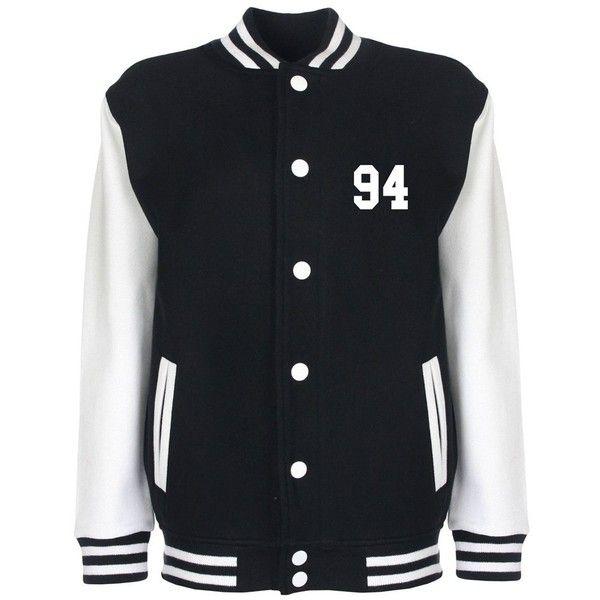6860a0960ff Minamo Ashton Irwin 5SOS Varsity Jacket ( 52) ❤ liked on Polyvore featuring  outerwear