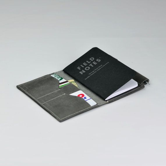 Field Note Case Moleskine case Wallet with Pen by ZETAleathergoods - field note