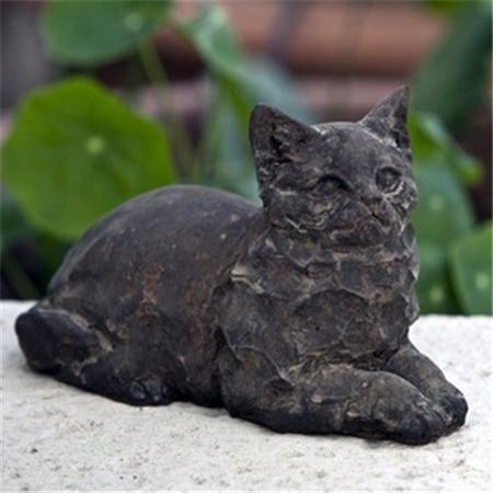 Perfect Black Cat Garden Art.