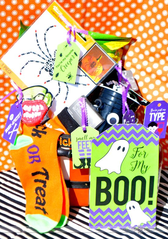 Halloween Spooky Basket.To My Boo Halloween Gift Basket Romantic Gift Ideas For
