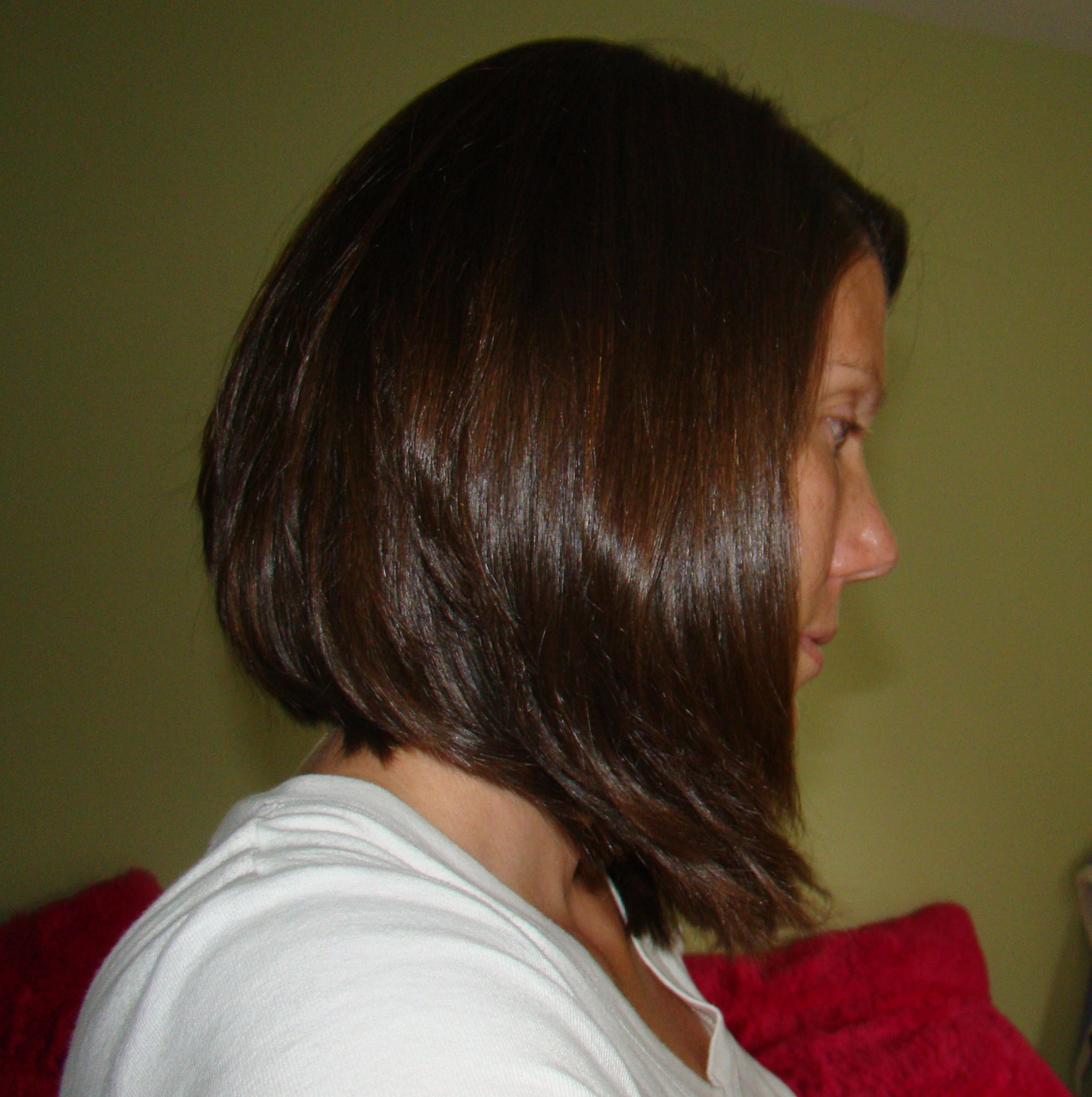 Short Hair Long Layers In The Back And Angled In The Front I Have