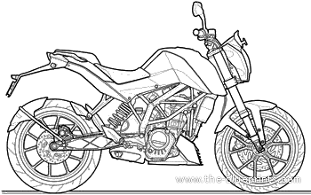 Download Free Ktm 200 Duke Blueprints Outlines Helps 3d Artists