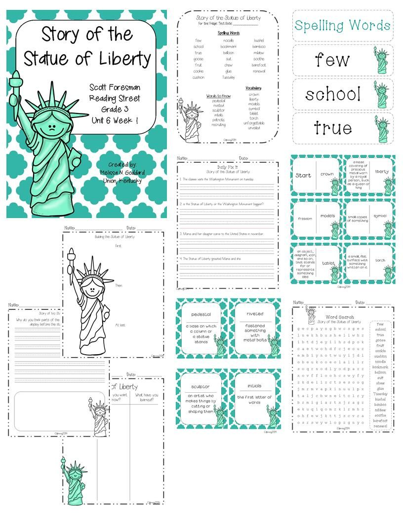 Story Of The Statue Of Liberty Reading Street Grade 3 3rd