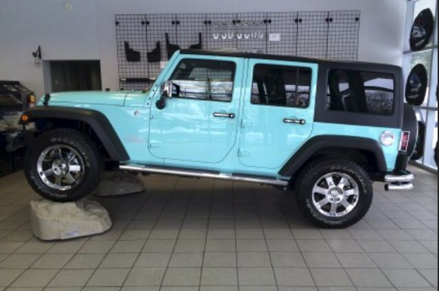 Baby Blue Jeep Wrangler Rubicon