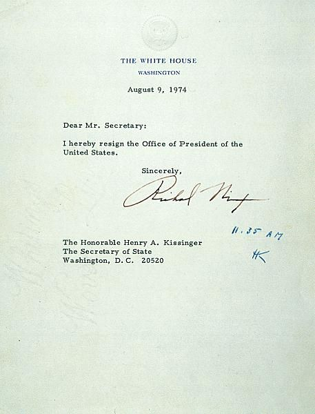 Resignation For Your Consideration Pinterest Resignation - nixon resignation letter