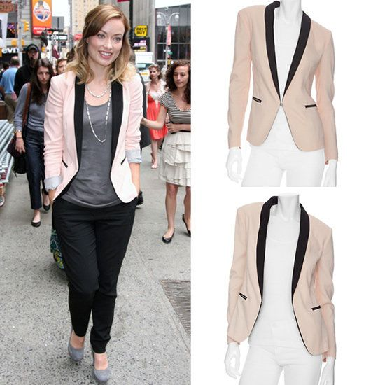 Olivia Wilde Goes Casual Chic In The Soft-Pink Blazer