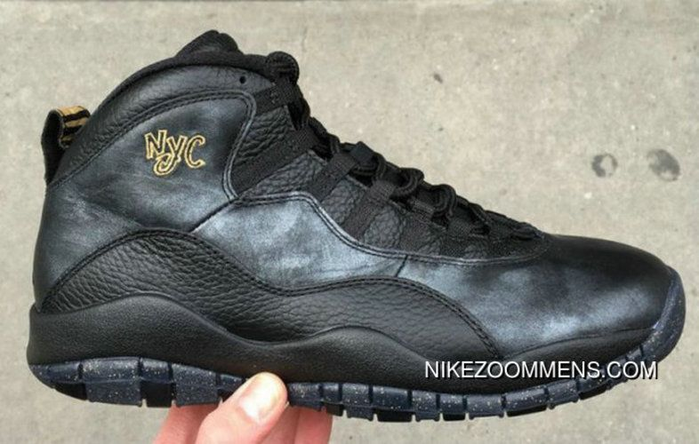 reputable site c77a4 a7f76 Where To Buy 2018 Air Jordan 10 X Black Gold Nyc New Year ...