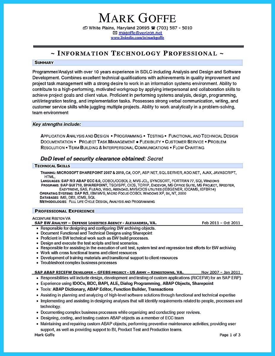 Cool Create Your Astonishing Business Analyst Resume And Gain The Position Check More At Http Snefci Org Create Your Astonishing Business Analyst Resume Sdlc