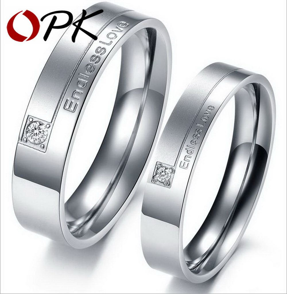 zircon product rings men stripe gift silver women endless finger simple lover love steel stainless couple ring