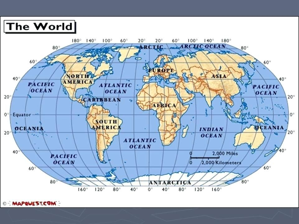 World Map With Equator free printable world map and mapping ...