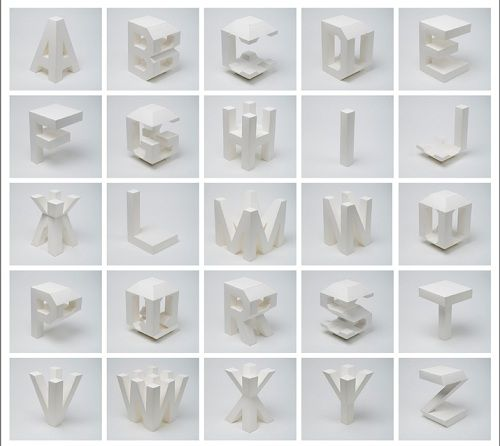 4-Dimensional Typography, One Letter With Different Perspectives –http://bit.ly/LEa0uV