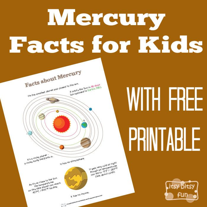 Fun Planet Mercury Facts For Kids  Solar System Facts Solar