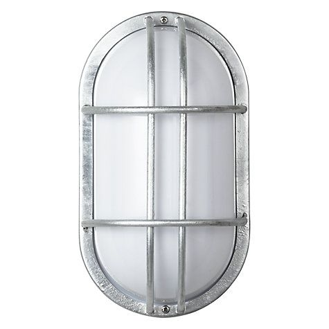 Garden trading st ives bulkhead galvanised outdoor light pinterest buy garden trading st ives bulkhead galvanised outdoor light online at johnlewis mozeypictures Images
