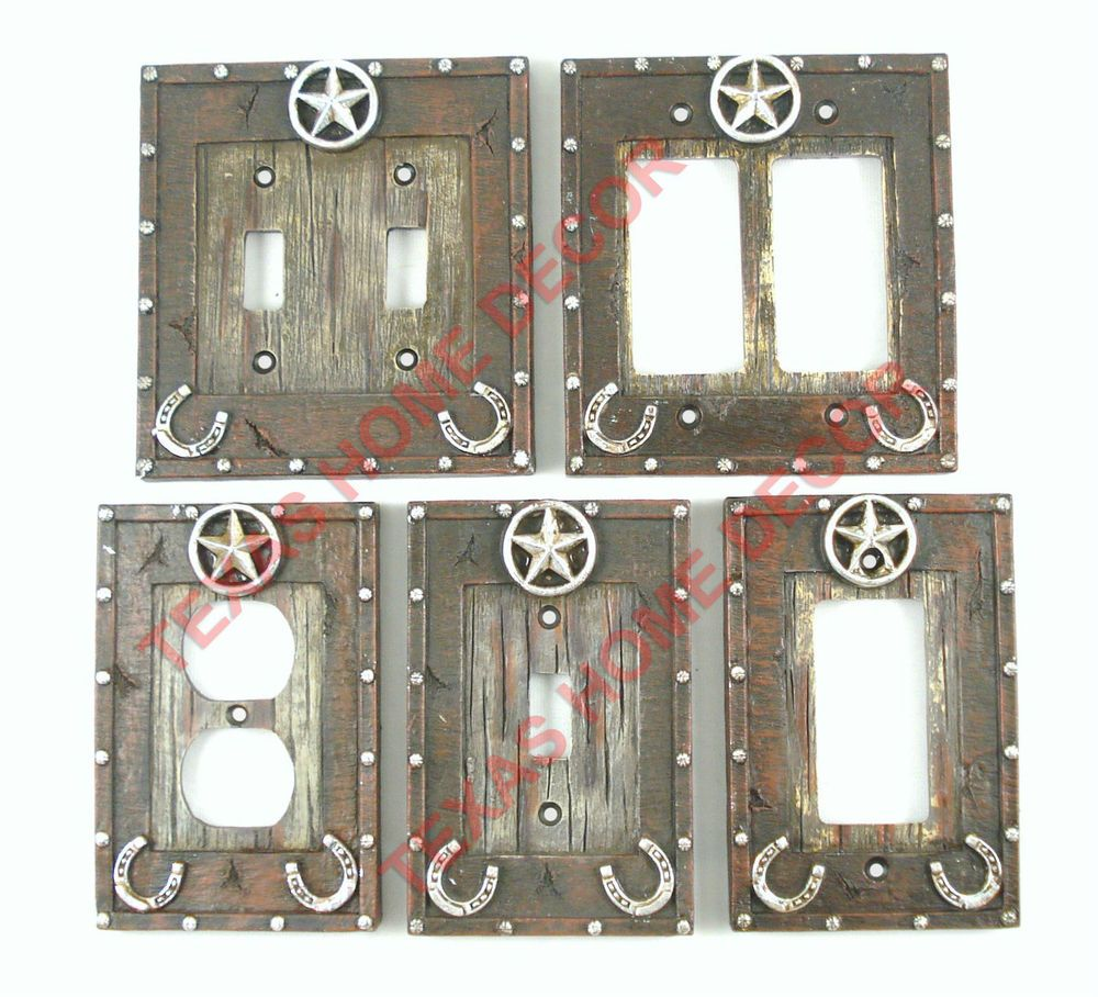 Silver Light Switch Covers Details About Western Star Light Switch Covers Silver Studs Wood
