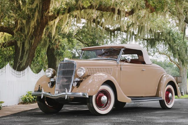 From the Estate of John G. Middleton1935 Ford Model 48 Deluxe Roadster  Chassis no. 1742350