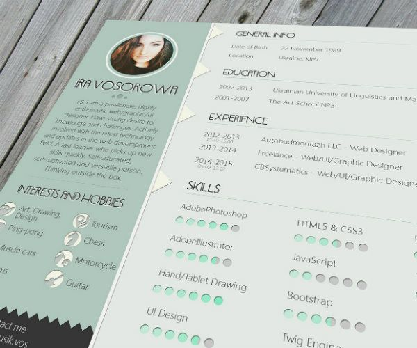 Free Resume Design Templates For Web Designers  Design Resumes