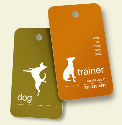 Cute dog business card dog biz n stuff pinterest for Dog trainer business card