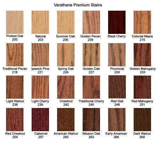 Varathane Premium Stains Color Chart Staining Wood Wood Stain Colors Minwax Gel Stain