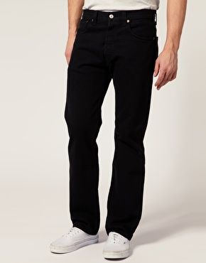 c24bc22806d Levis 501 Black Straight Jeans and Vans