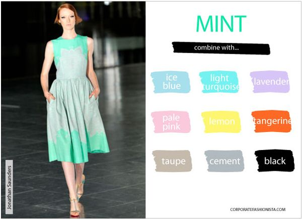Master The Art Of Mixing Springs Hottest Colors Fashion Mint