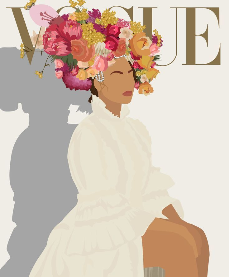 Photo of Beyoncé for Vogue Magazine … illustration by Urechi of @UreUnbothered, refere…