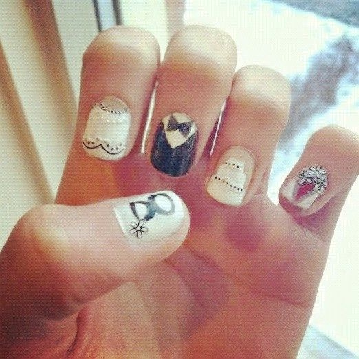 Wedding nails haha wedddding pinterest weddings and wedding wedding nails haha do it yourself solutioingenieria Gallery