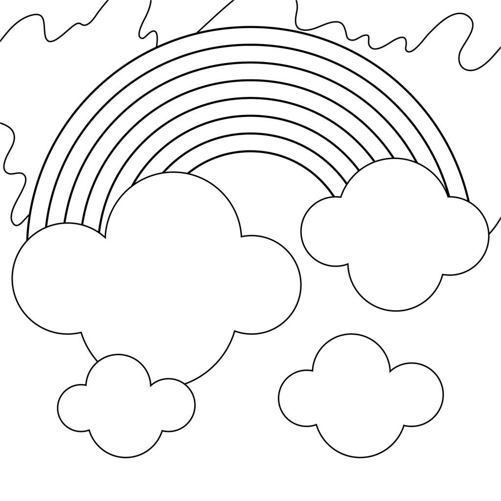 Beautiful Rainbow Coloring Pages to Print Coloring pages