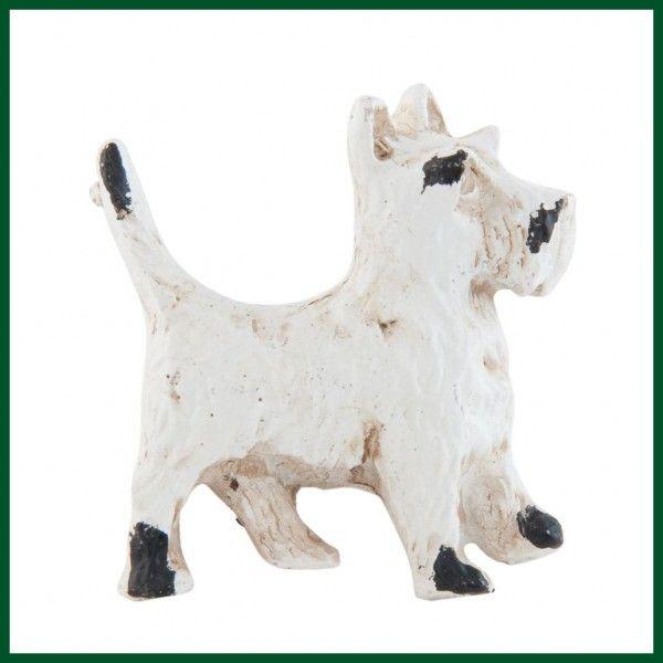 Möbelgriff HUND Knauf Terrier Shabby Chic weiß Wohnen + Dekoration Möbelknöpfe…