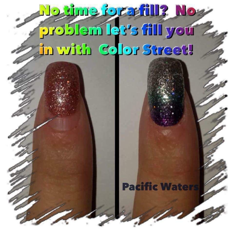 Instead Of Removing Your Acrylics Apply Color Street On Top Be Sure To File Down The Bottom To Blend In With Natural Nai Color Street Nails Color Street Color