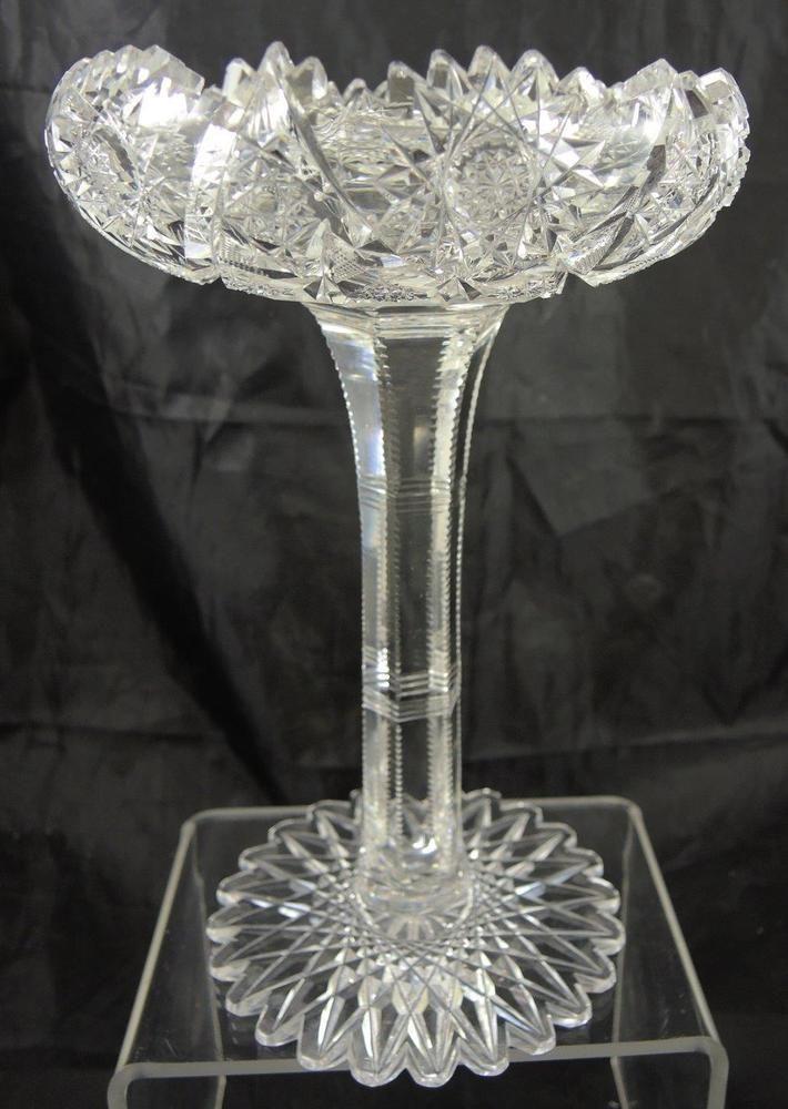 Extraordinary American Brilliant Period Cut Glass Compote