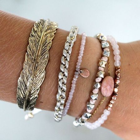 A Delicate Set Of Bracelets For More Demure Way To Add Jewelry Your Outfit