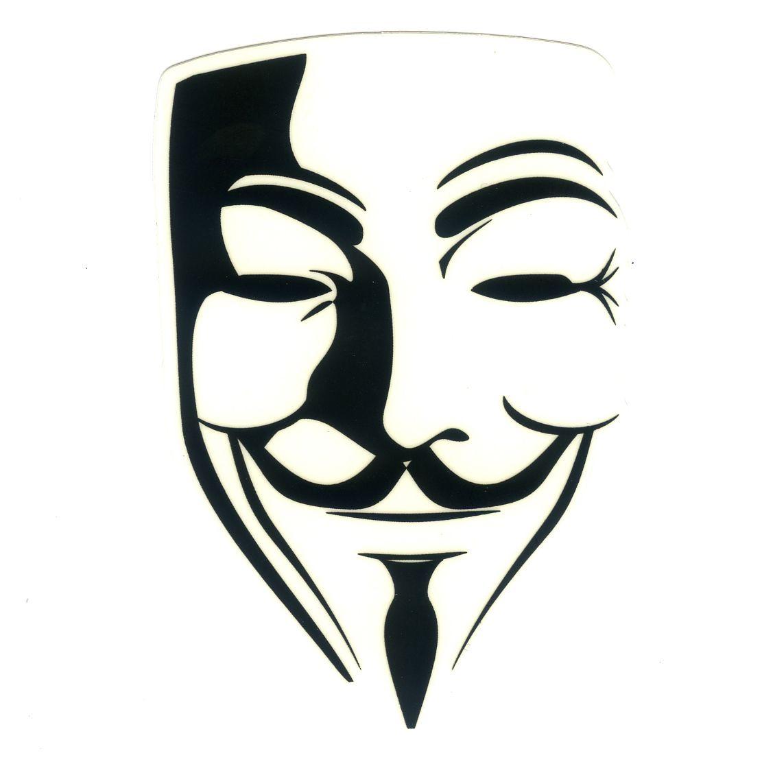 1112 V For Vendetta Guy Fawkes White Area Transparent Height 8 Cm Decal Guy Fawkes Mask Vendetta Mask V For Vendetta