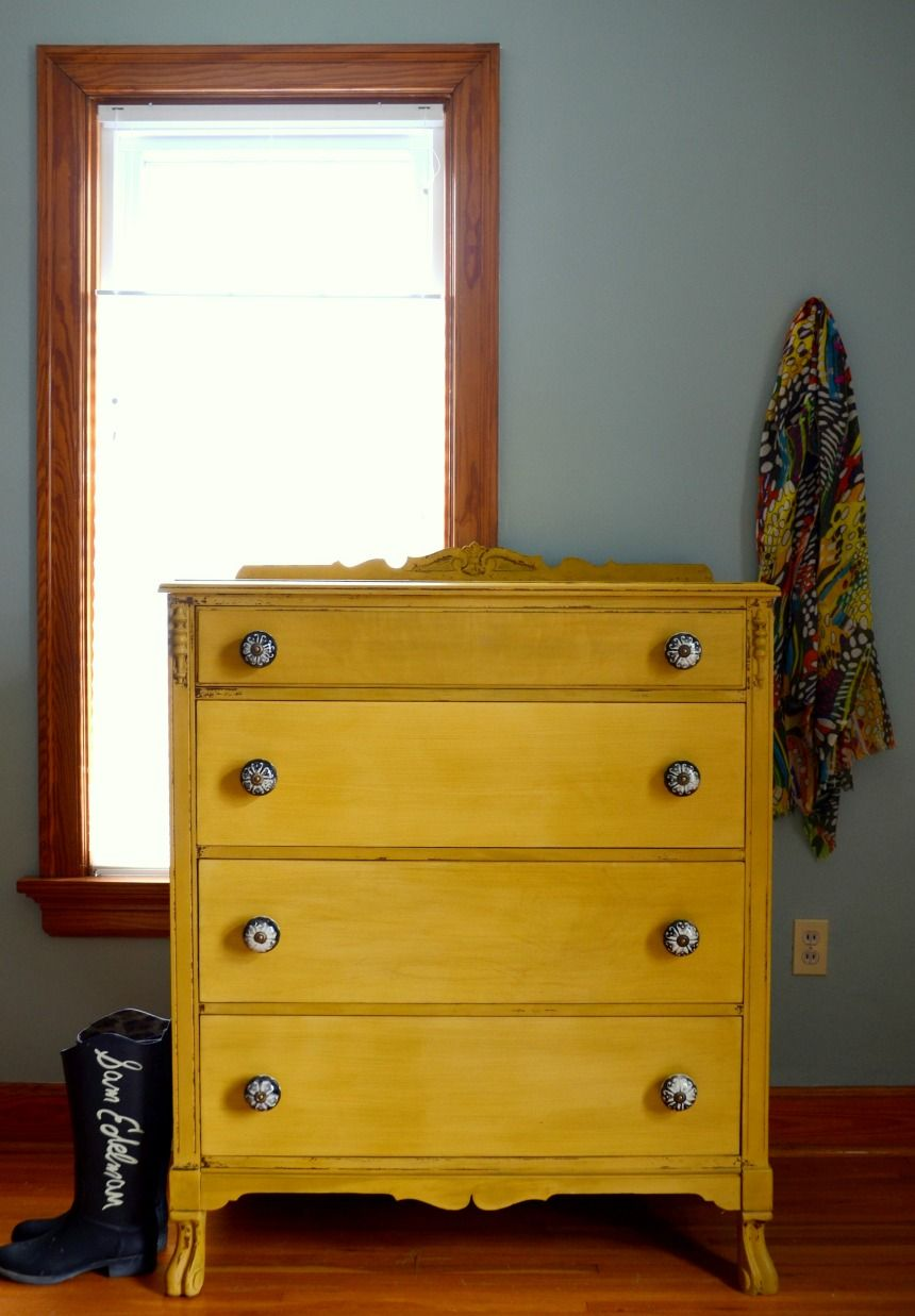 Mustard Chest Of Drawers By Estuary Designs