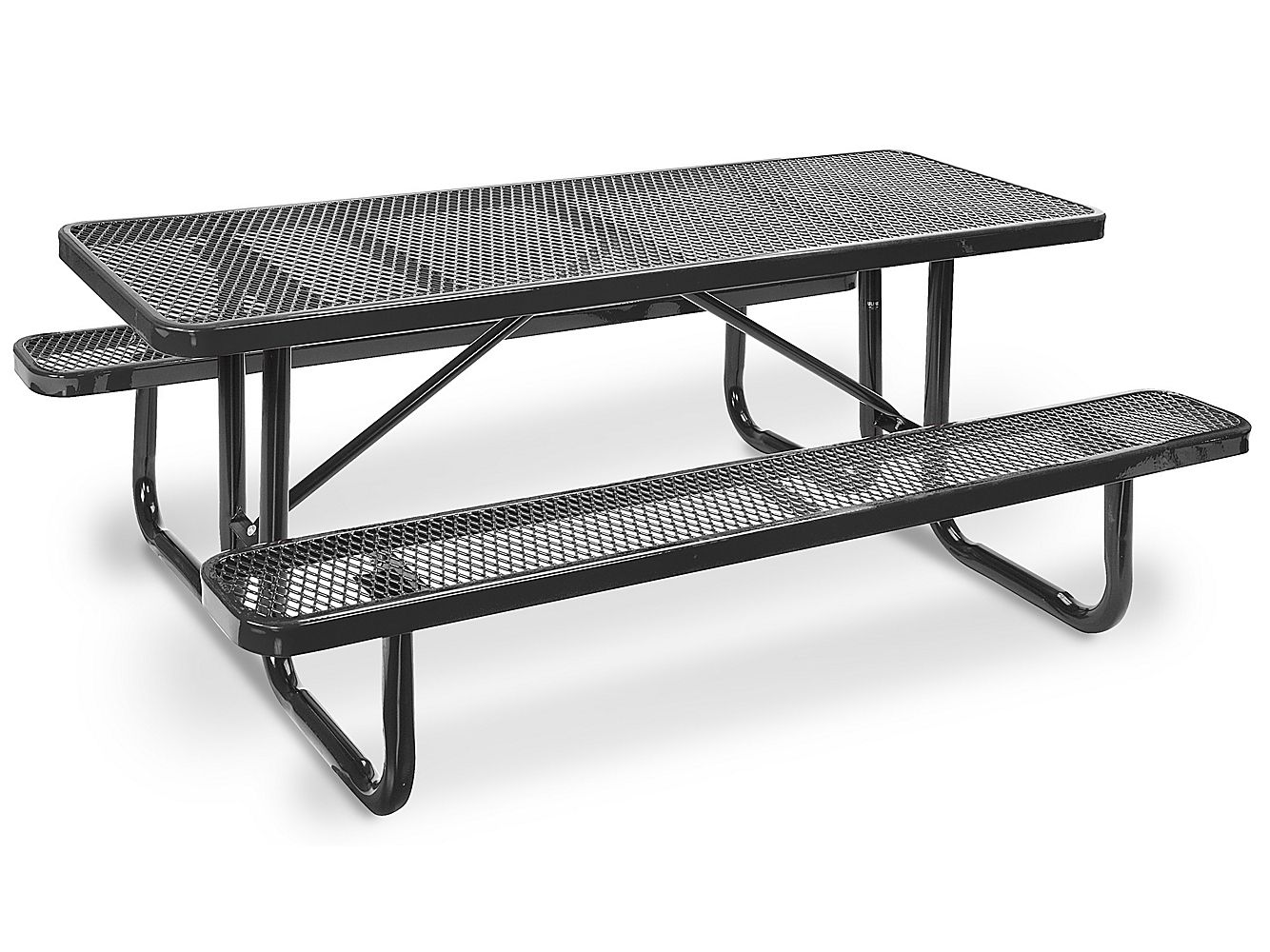 Metal Picnic Table 6 Rectangle H 2128 Uline Metal Picnic