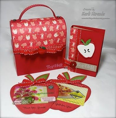 Apple gift card holders to make for teacher apprecitation gifts