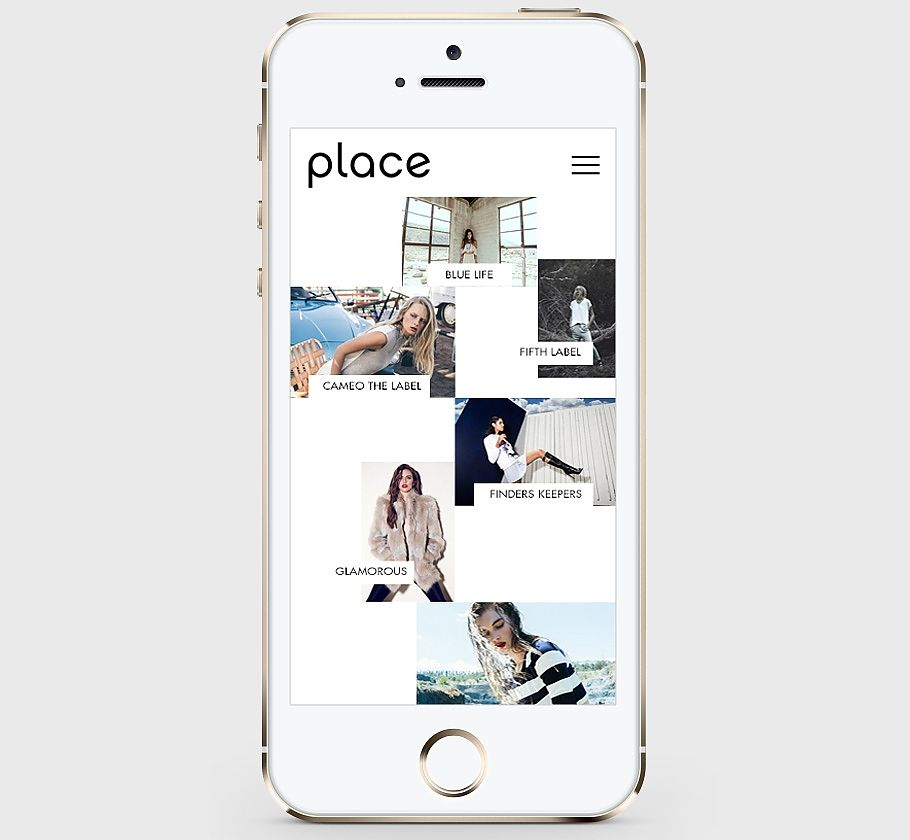 Place Showroom Custom Website / Responsive Design / Fashion Showroom / Bliss & Bone