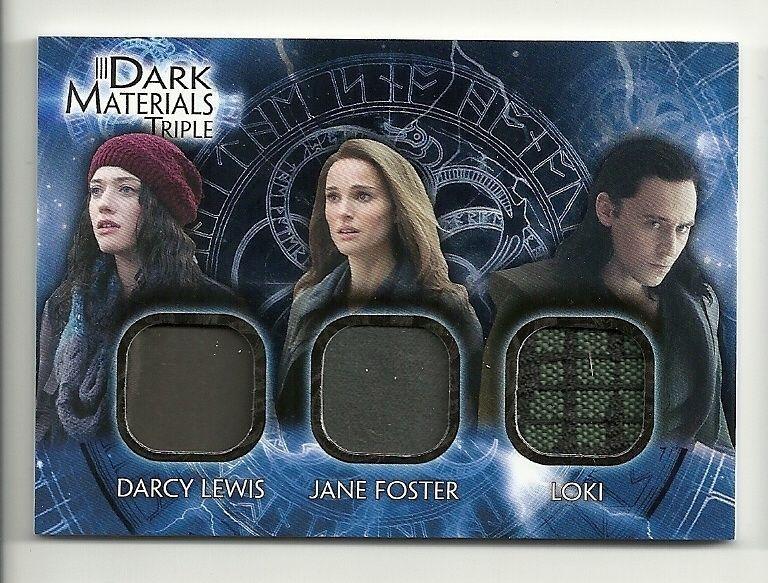 2013 Upper Deck THOR 2 Dark World Materials Triple  DMT-6 Darcy JANE Loki