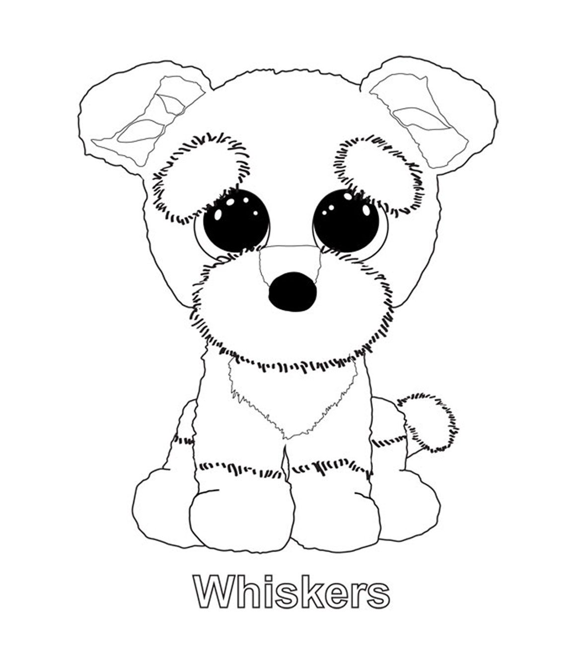 Whiskers Puppy Coloring Pages Beanie Boo Birthdays Coloring Pages