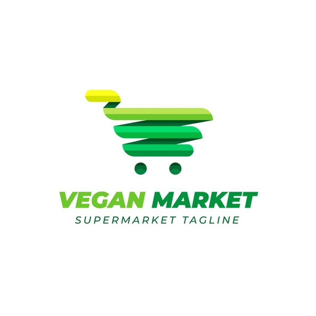 Supermarket Logo Design With Green Cart #paid