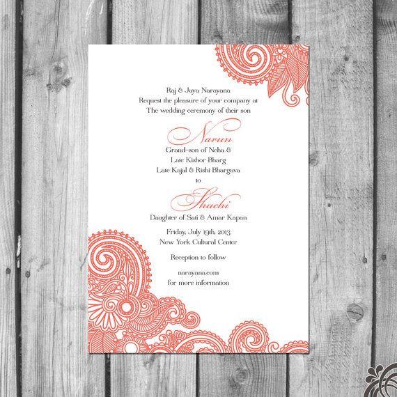 henna inspired wedding invitation set best invitation set