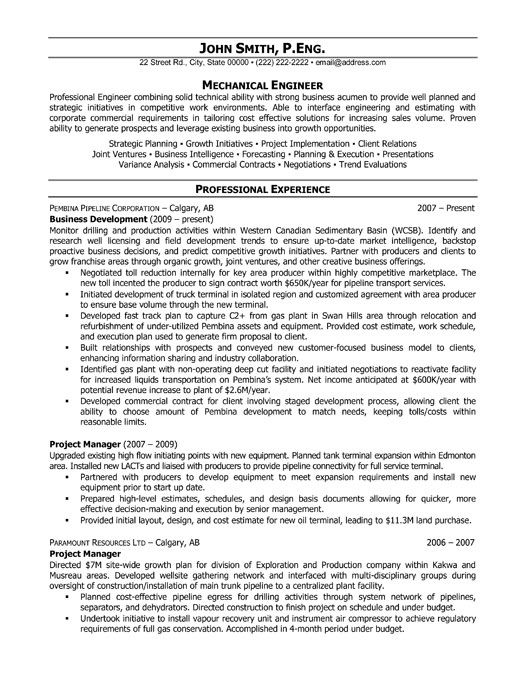 Click Here to Download this Project Manager Resume Template!   - mechanical engineering resume template