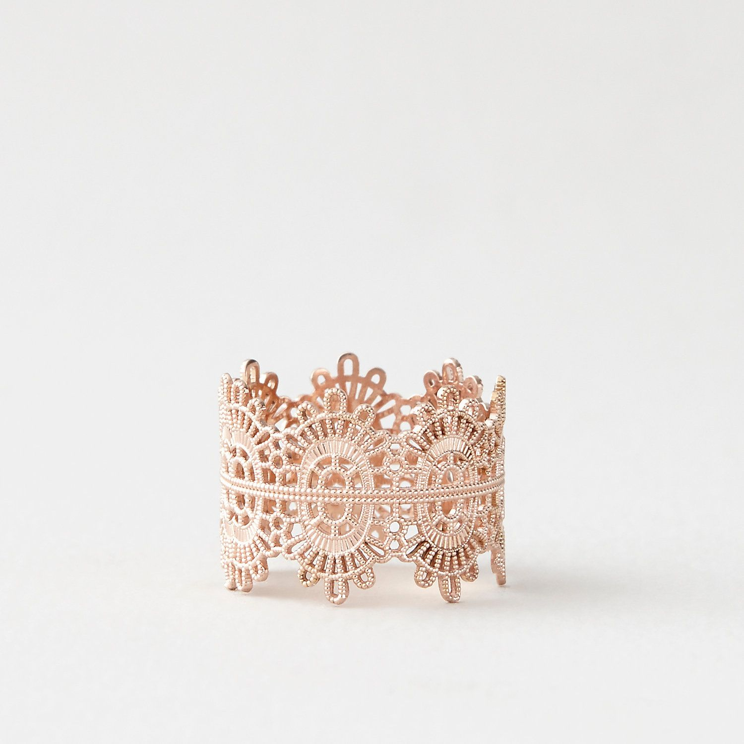 Grace Lee Rose Gold Lace Ring Womens Jewelry Steven Alan