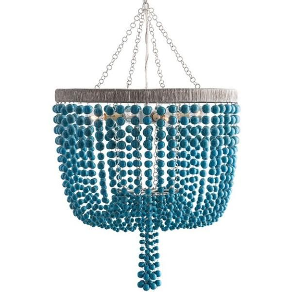 FREE SHIPPING. Purchase the beaded turquoise and Silver Leaf Viola Chandelier by…