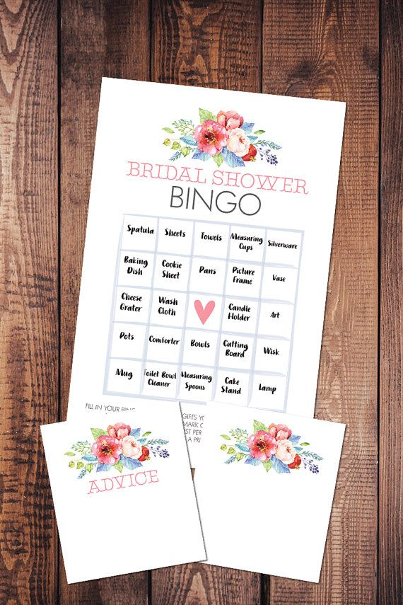 bridal shower bingo a fun game to play at bridal showers or baby showers while the guest of honor is opening gifts