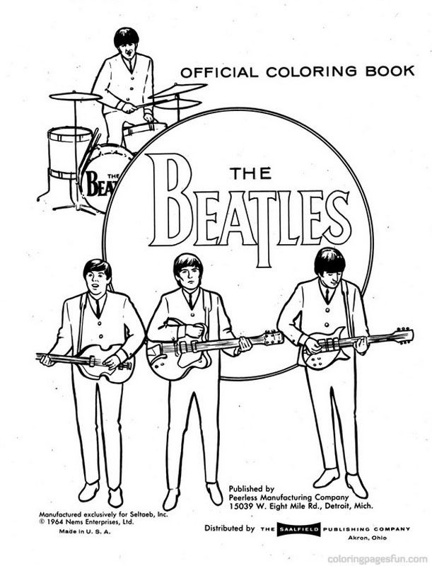 - The Beatles Coloring Printable - Google Search The Beatles, Beatles  Drawing, Cool Coloring Pages