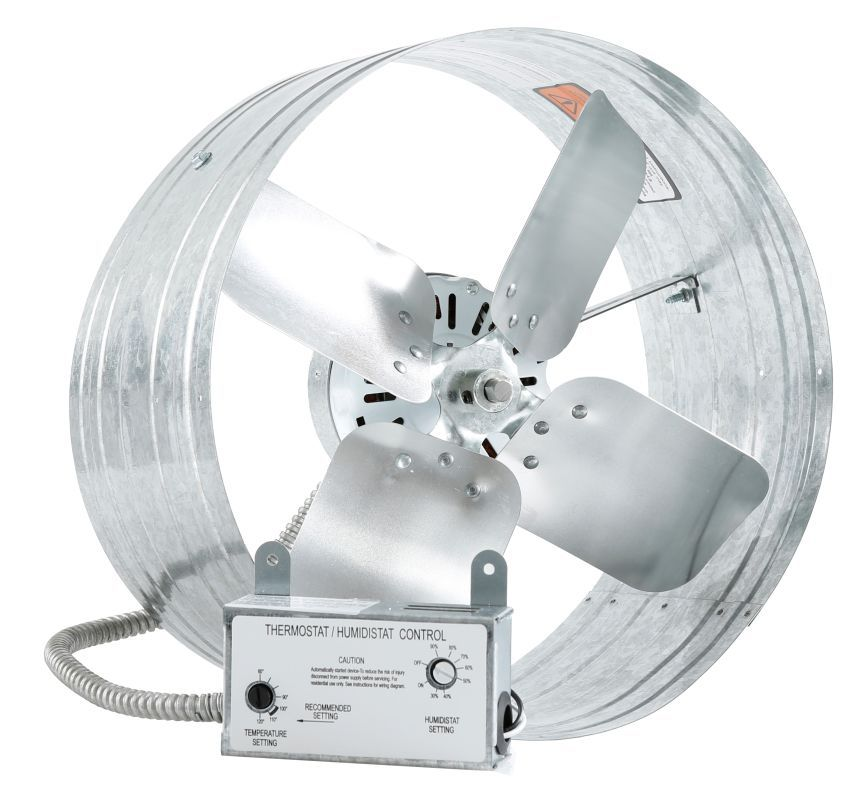 Iliving Ilg8g14 16th 1620 Cfm Gable Mount Humidity Sensing Attic Fan With Thermo Fans Powered Attic Venti Attic Fan Bathroom Exhaust Fan Bathroom Fan
