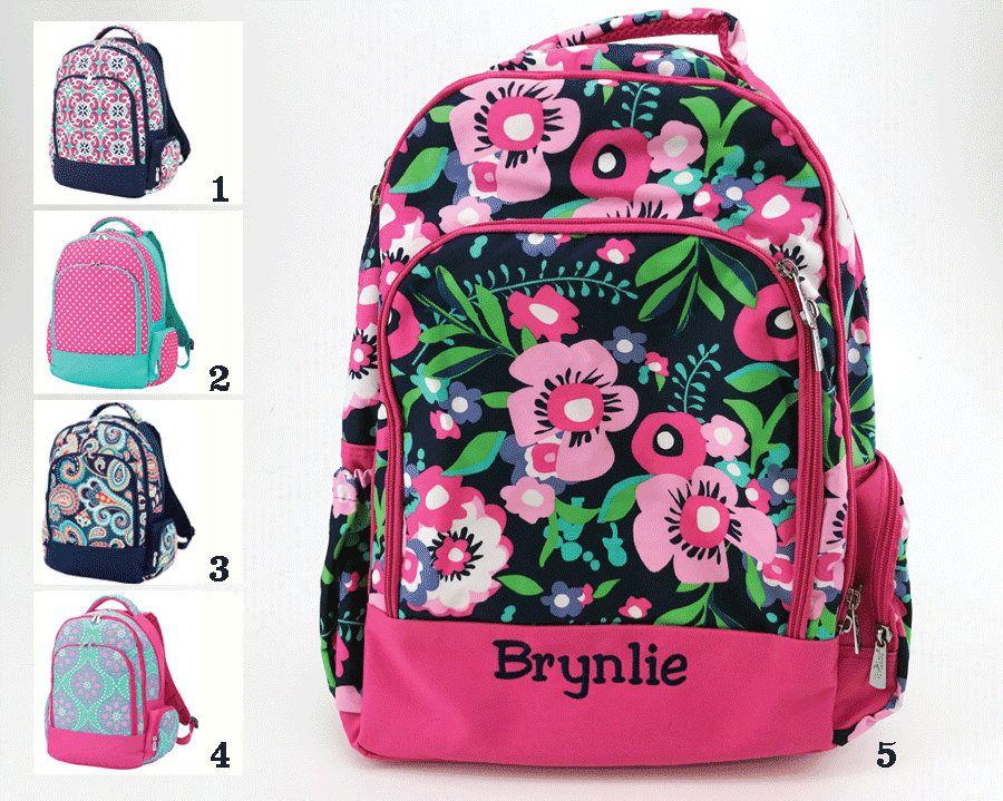 Personalized Cute Girls School Backpack