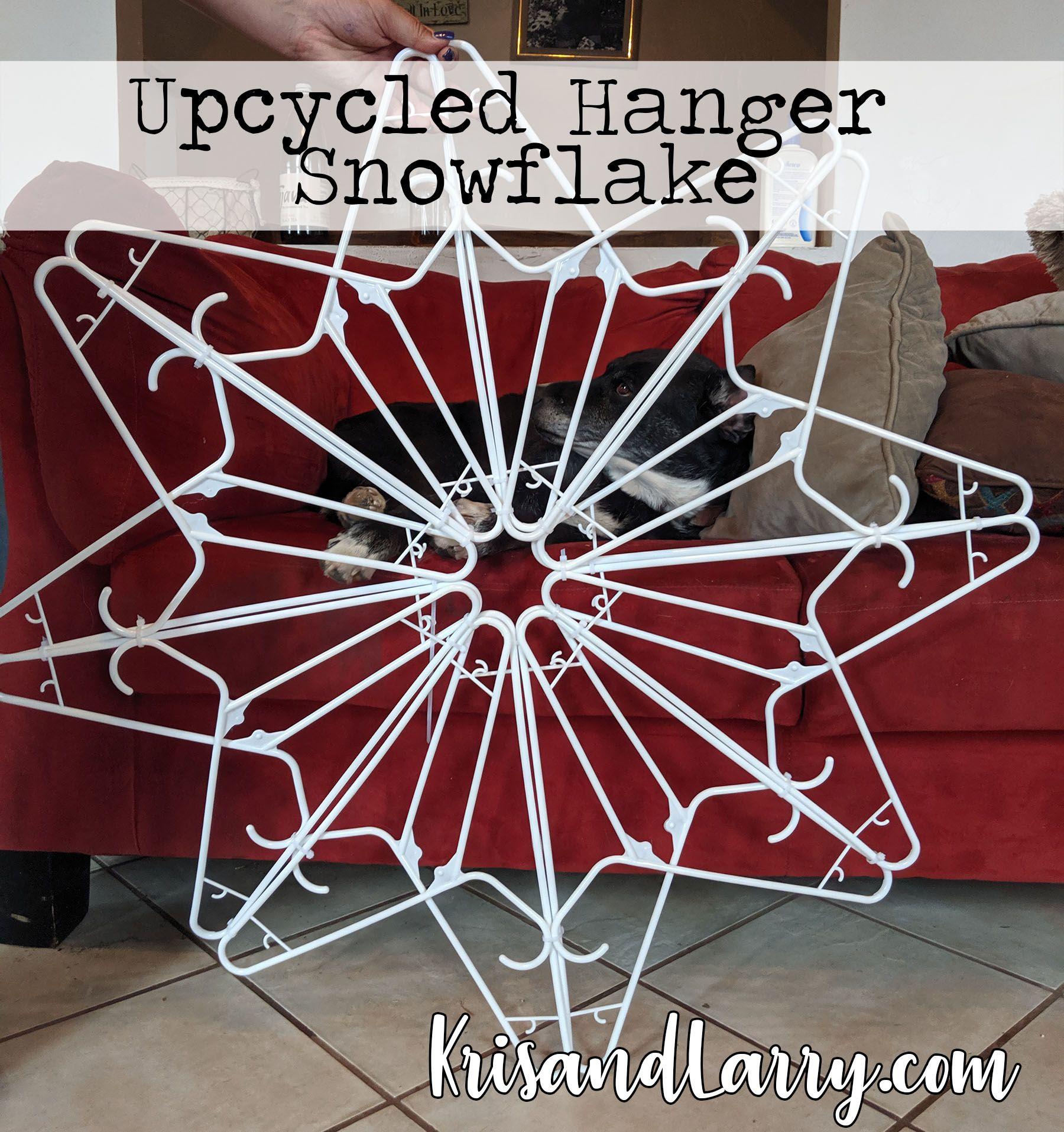 #hangersnowflake