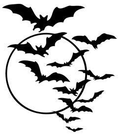 free halloween bat swarm printable